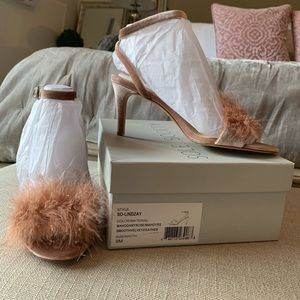 Brand New Sole Society Lindzay Feather Heels